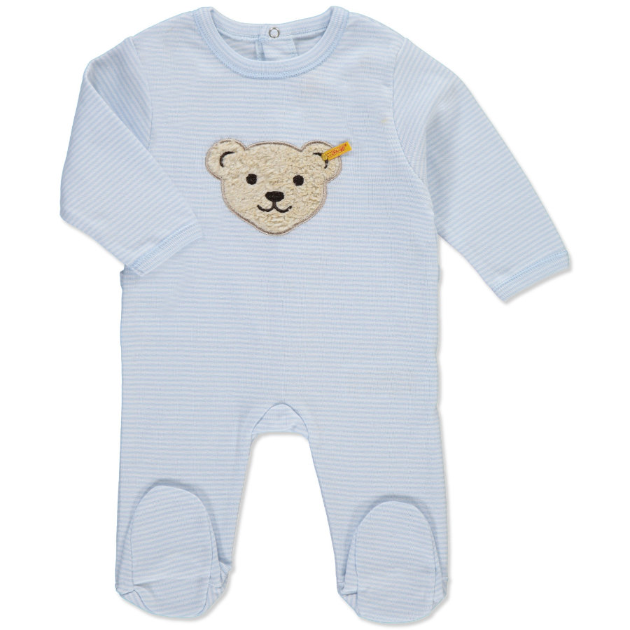 STEIFF Boys Jersey Rompers 1/1 Sleeve baby blue