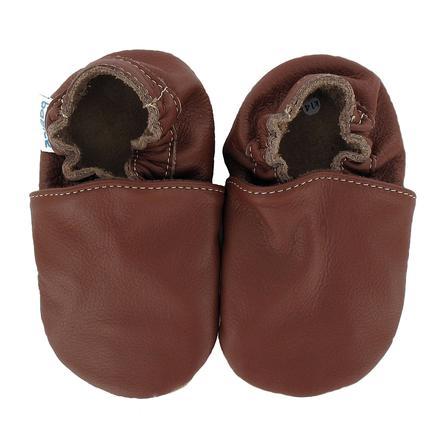 BaBice Chaussons bébé UNI brun
