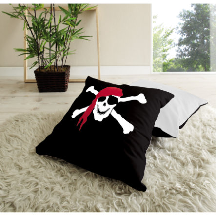 TICAA Lot de coussins - Pirates noir/blanc