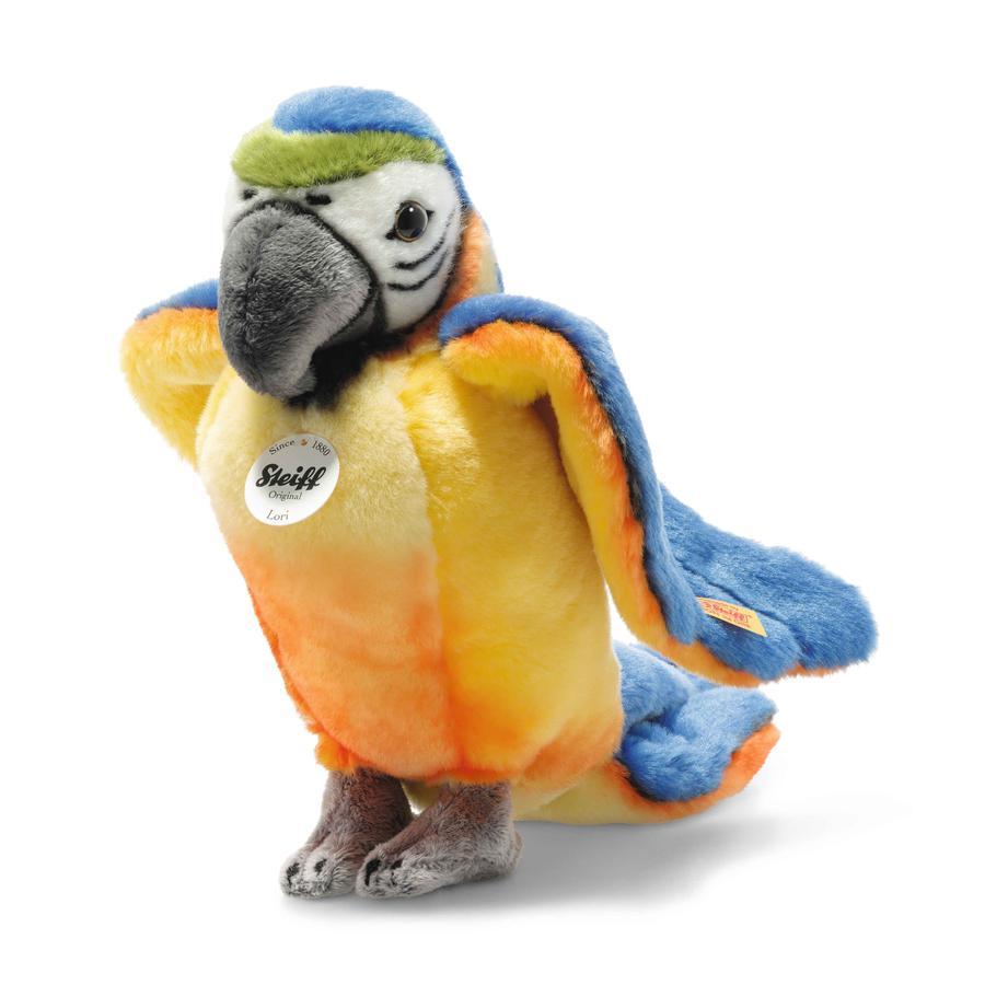STEIFF Lori papoušek, stojící, modro/žlutý 26 cm