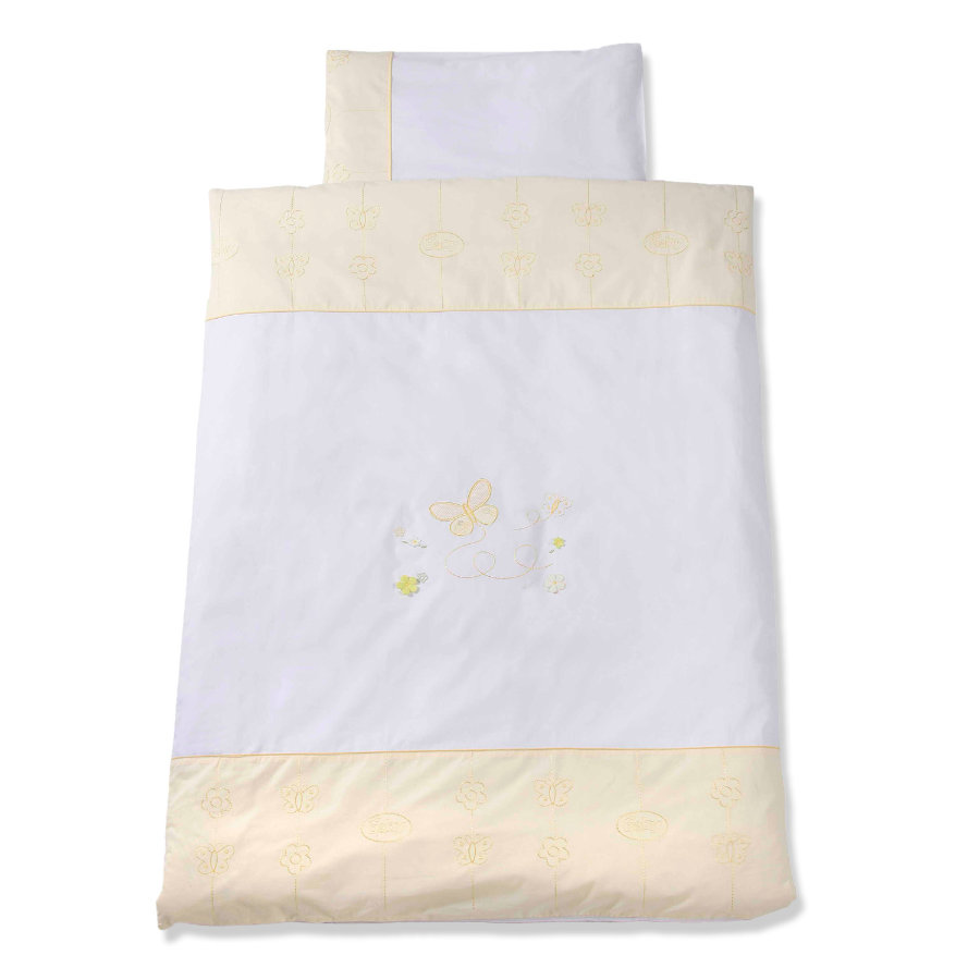Easy Baby Beddengoed 80x80cm Butterfly Yellow (415-86)