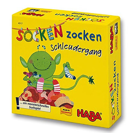 HABA Mitbringspiel Supermini  Socken Zocken - Schleudergang 4917