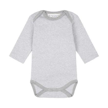 SENSE ORGANICS Baby Romper YVON pinny stripes grey marl