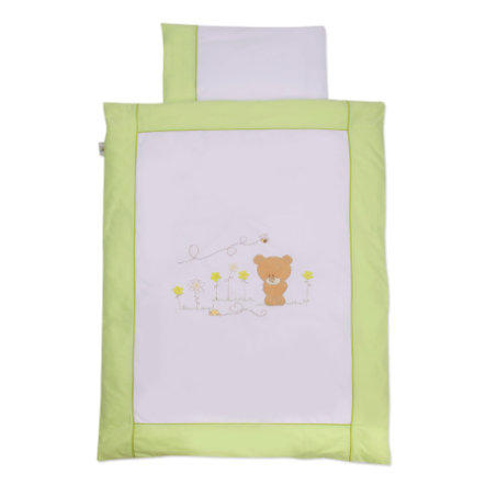 Easy Baby Bäddset 100 x 135 cm Honey bear grön (410-39)