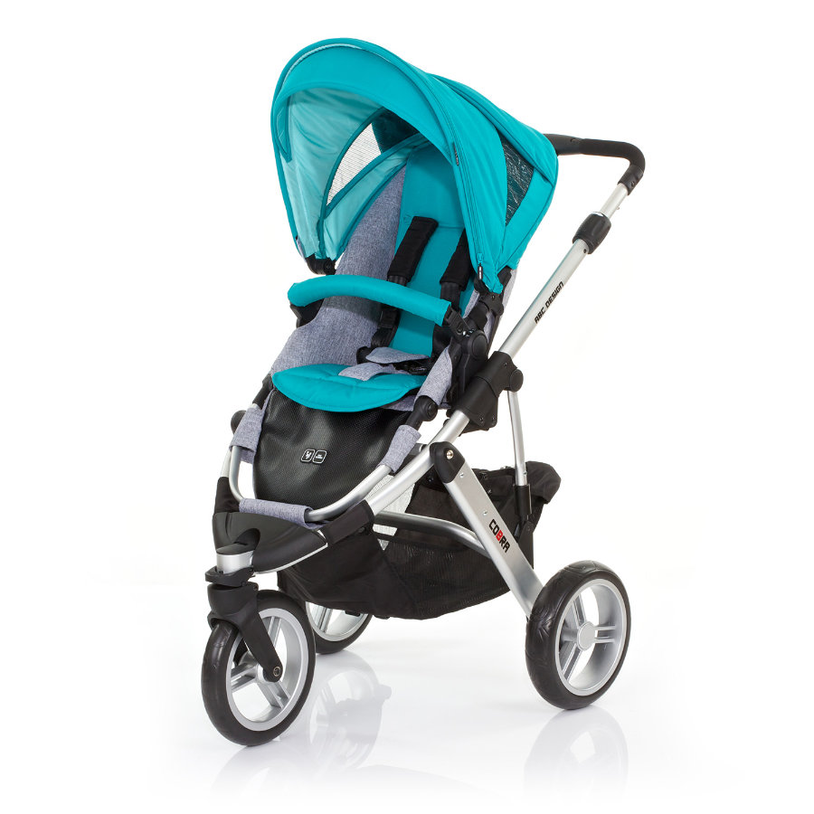 ABC DESIGN Kinderwagen Cobra coral Frame silver/graphite Collectie 2015