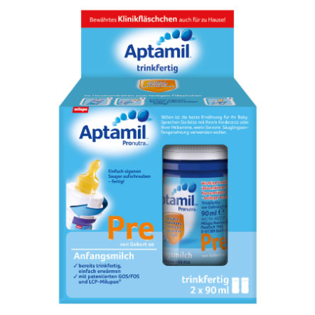 Aptamil Pre Infant Formula, ready to drink 2 x 90ml