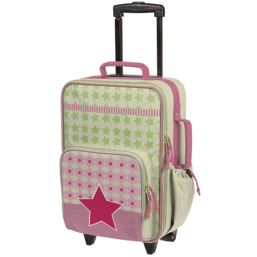 LÄSSIG Children's Trolley Suitcase Starlight Magenta
