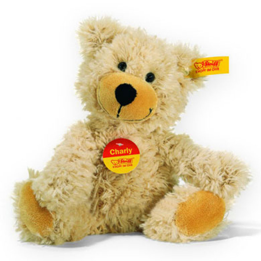 STEIFF Dinglende teddybjørn Charly, 23 cm, i beige