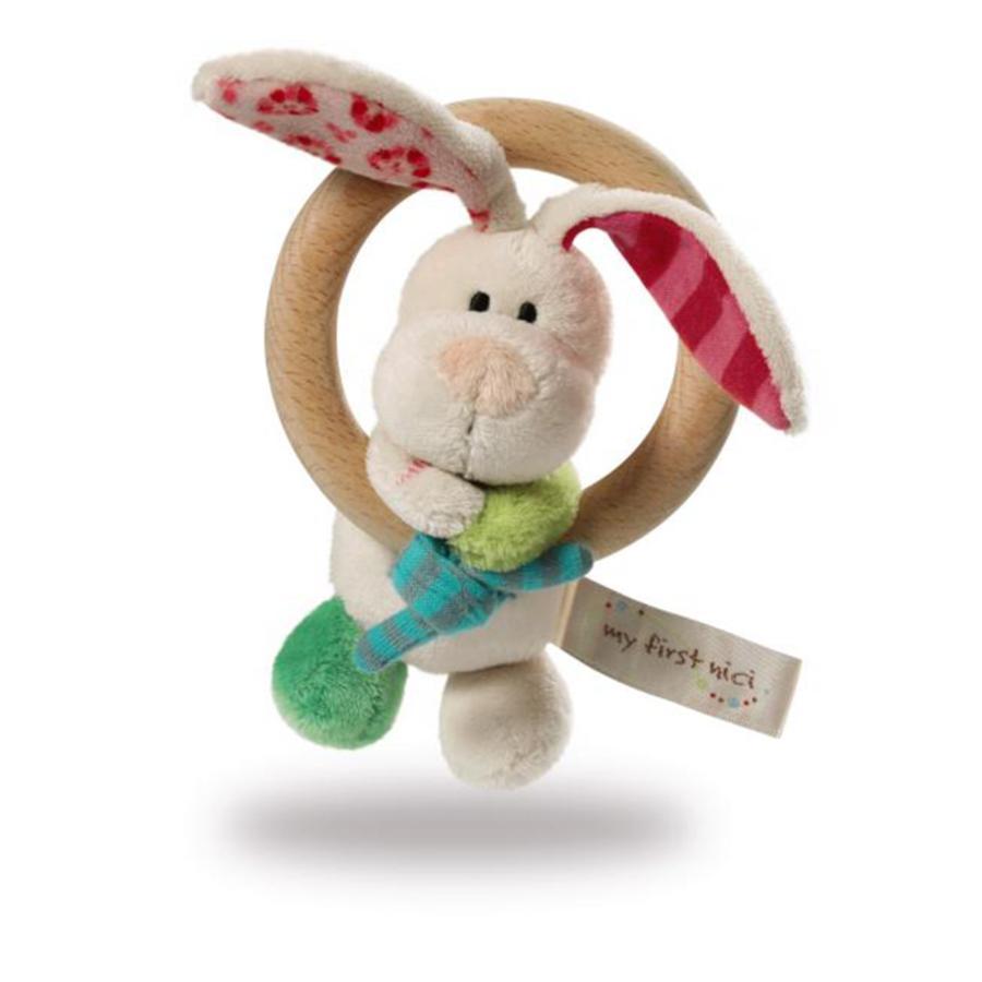 NICI My First NICI Rangle af træ Hare Tilli med klokke