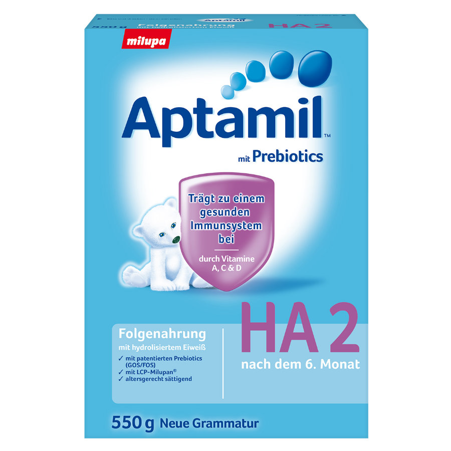 Aptamil HA 2 Follow-On Formula with Hydrolised Protein 550g