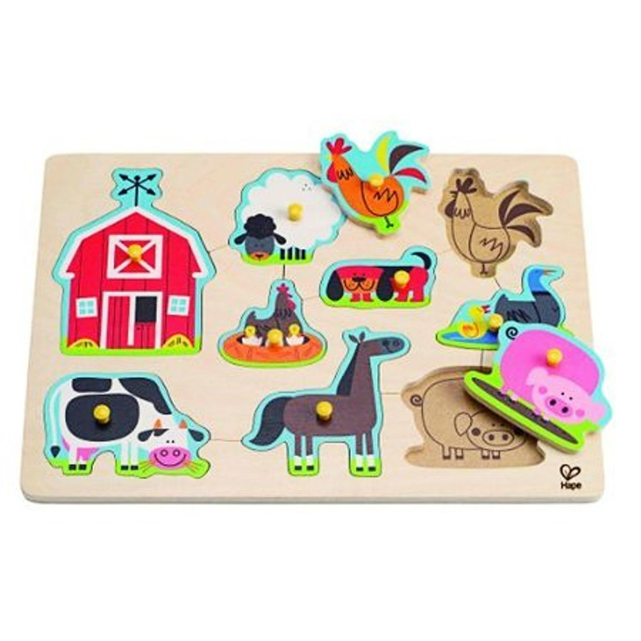 HAPE Pegging Puzzle Farm Animals