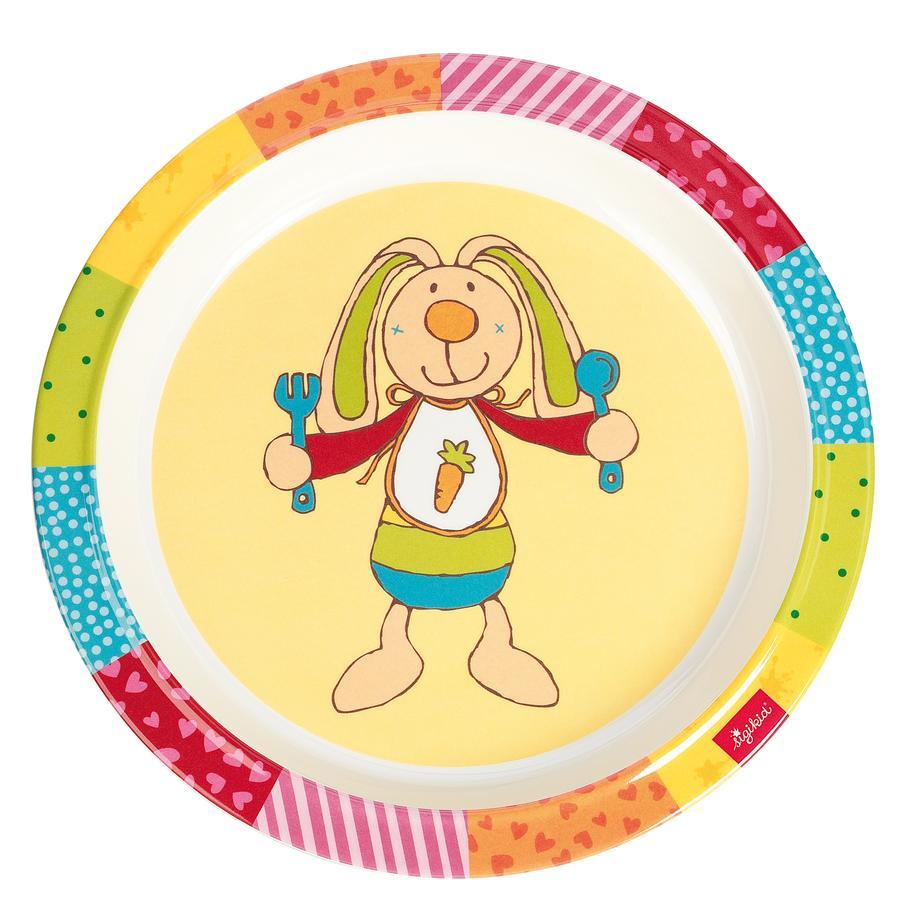 SIGIKID Melaminový talířek - Rainbow Rabbit