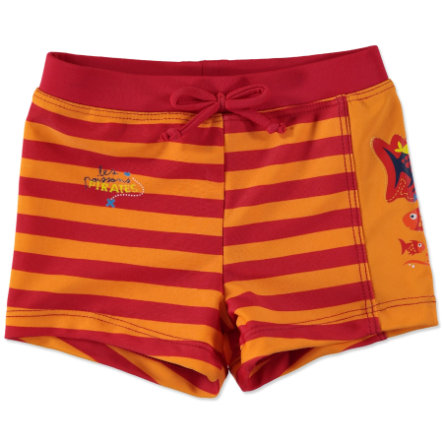 anna & tom Boys UV Protection Swimming Trunks red, orange