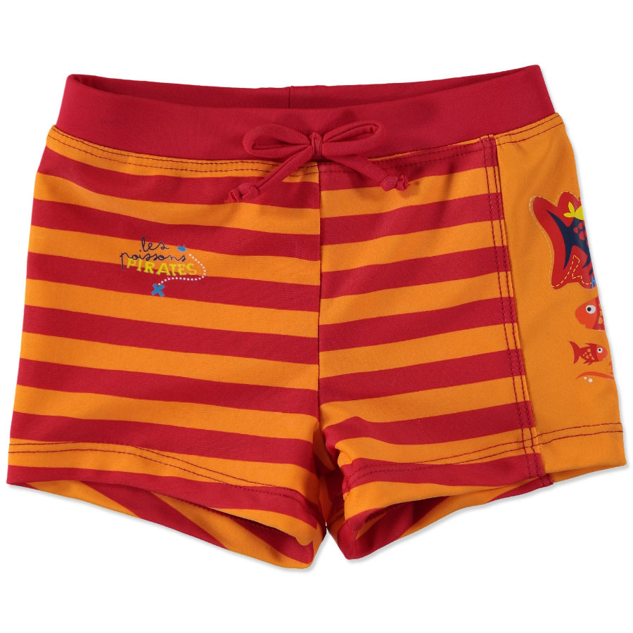 anna & tom Short de bain UV garçon rouge, orange