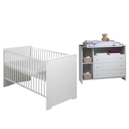 SCHARDT Eco Stripe Kit chambre enfant avec lit kit de transformation commode et plateau