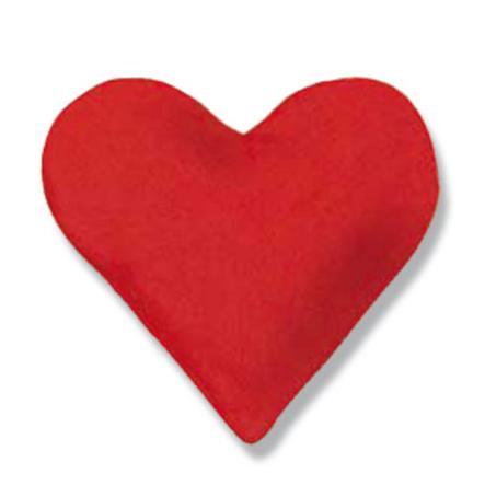 THERALINE sydämen muotoinen lämpötyyny, kirsikankivitäyte 26 x 27 cm