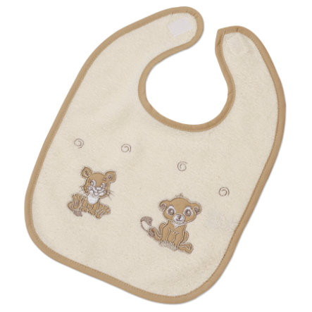 Easy Baby Bib with Velcro Little Lions