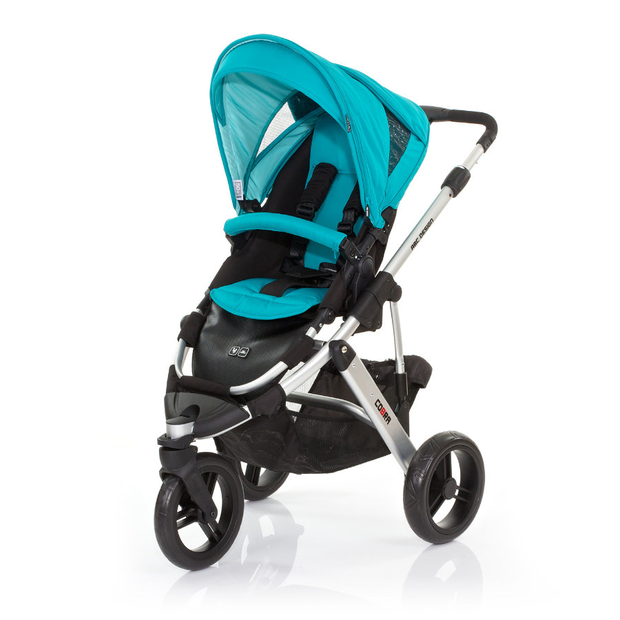 ABC DESIGN Pushchair Cobra coral Frame silver / black Collection 2015