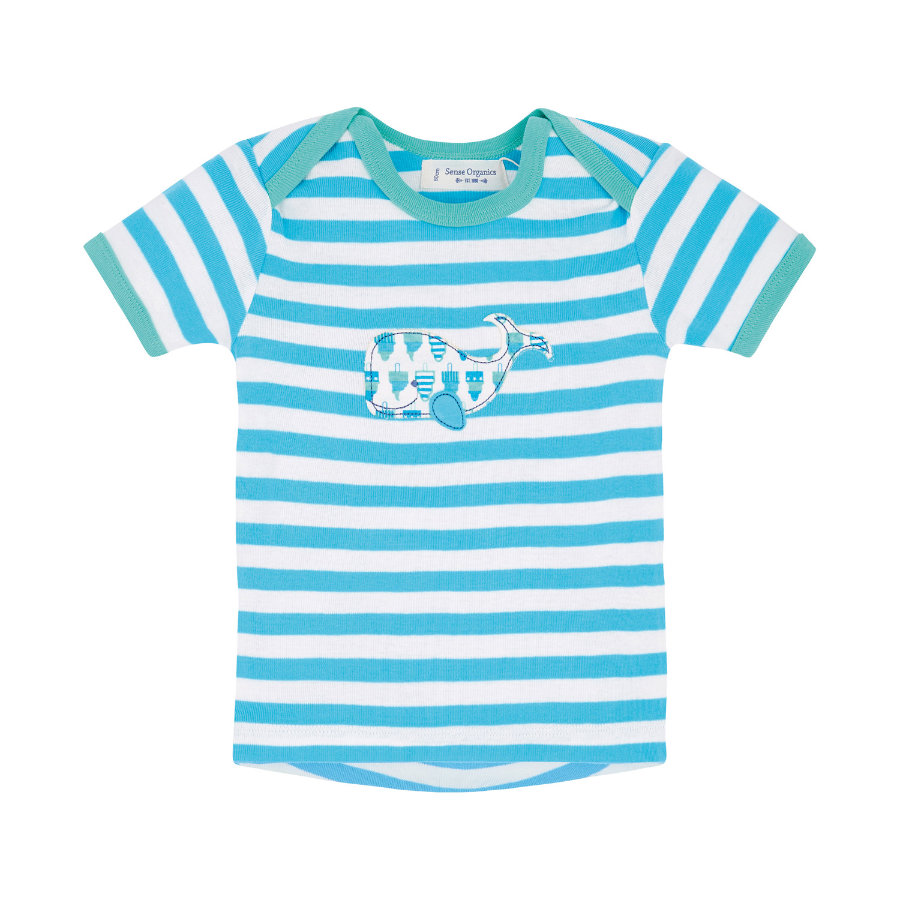 SENSE ORGANICS Boys Baby Tričko TIMBER marine stripes