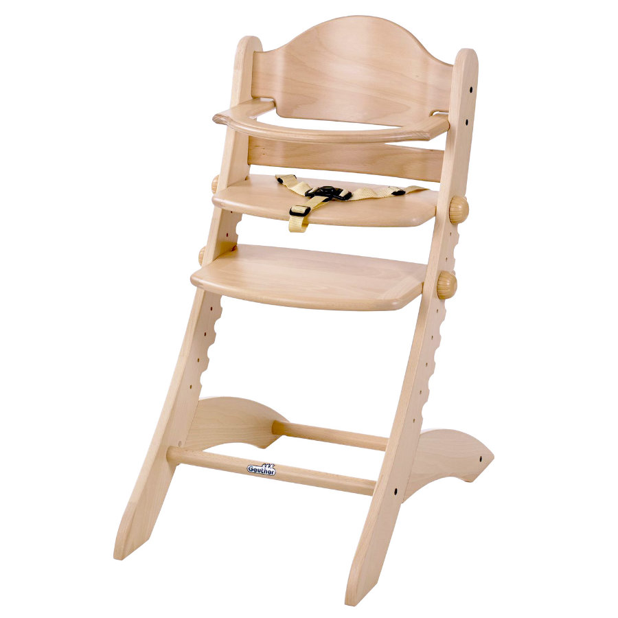 geuther Chaise haute bébé Swing bois naturel