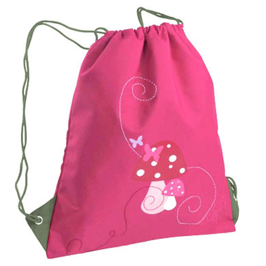 LÄSSIG Turnbeutel mini String Bag Mushroom magenta