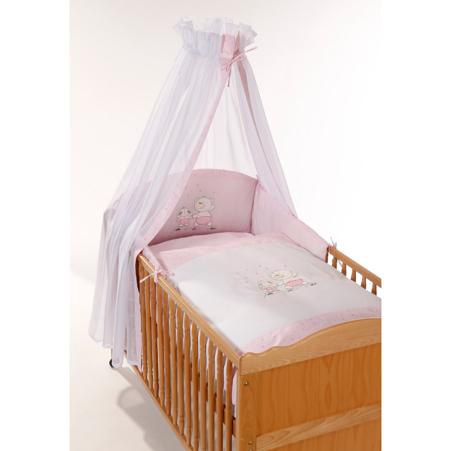 Easy Baby Bedset Stars & Friends rosé