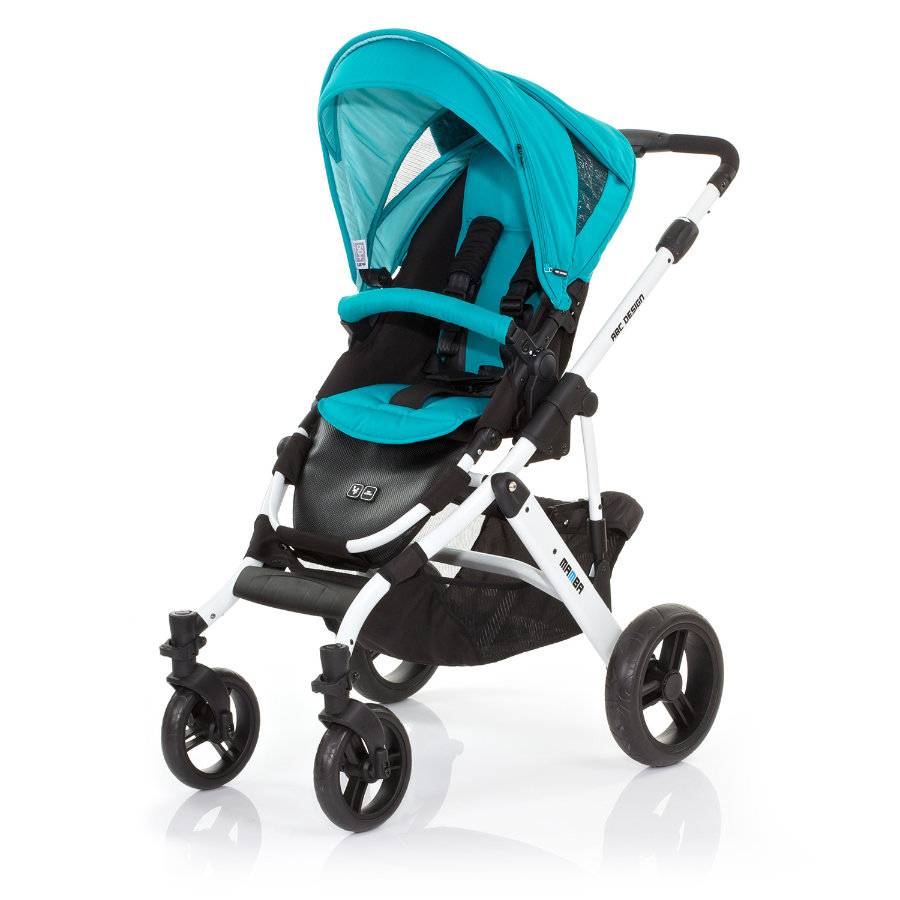 ABC DESIGN Combi Stroller Mamba coral Frame white / black Collection 2015