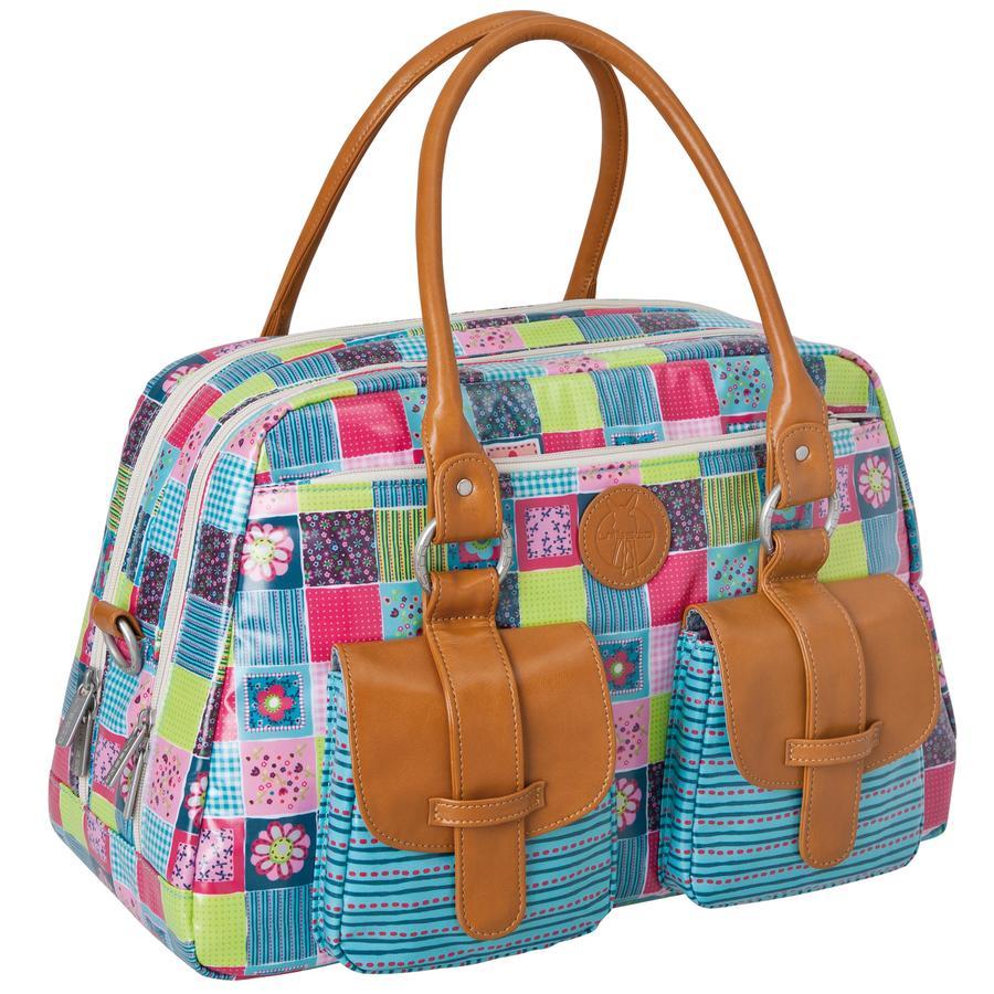 LÄSSIG Bolso cambiador Metro Bag Vintage, Flower Quilt