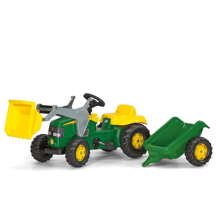 ROLLY TOYS rollykid šlapací traktor s nakladačem a vlekemJohn Deere 023110