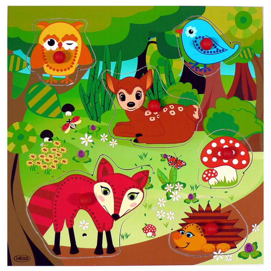 HESS Knob Puzzle - Forest Animals