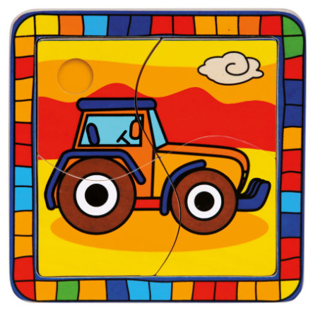 BINO Pussel 4 bitar - Traktor