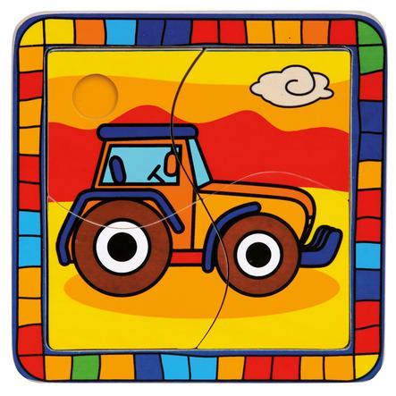 BINO Puzzel 4-delig Tractor