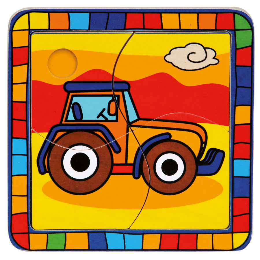 BINO Puzzle 4 pièces Tracteur