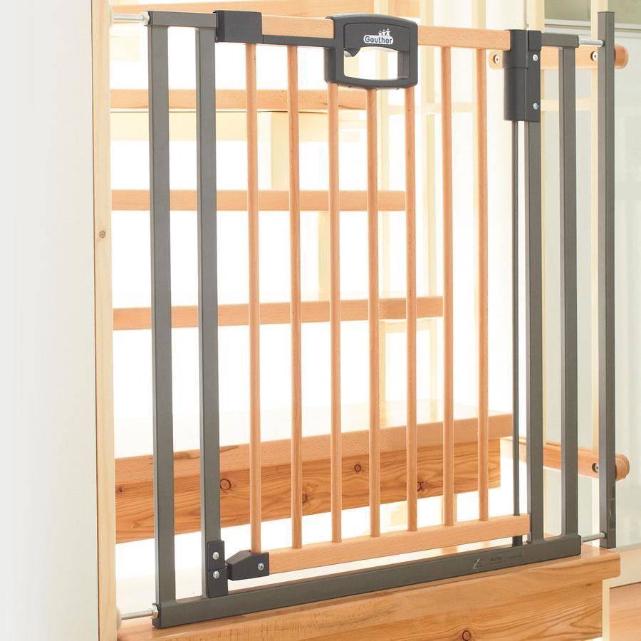 GEUTHER Easylock Wood SPÄNNGRIND Säkerhetsgrind / Barngrind  84,5 - 92,5 cm (2793)