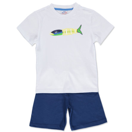anna & tom Boys Short Pyjamas Big Fish white, blue