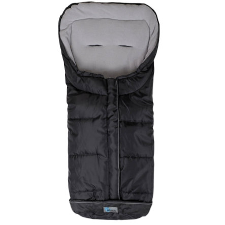 ALTA BEBE Winter Footmuff Standard with ABS (2203XL) black/ light grey - Black Fede, Collection 2013/2014