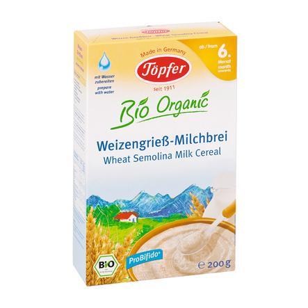 Töpfer Bio Weizengrieß Milchbrei 200 g