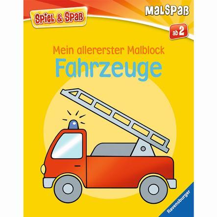 RAVENSBURGER Spiel & Spaß - Malspaß Mein allererster Malblock: Fahrzeuge