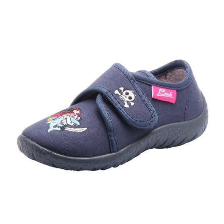 Pantofle BECK Boys HAI ciemnoniebieskie