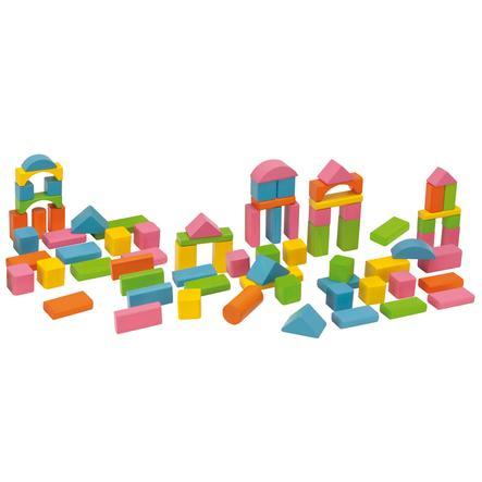 Eichhorn Cubes HAPPY COLOURS, bois, 75 pièces