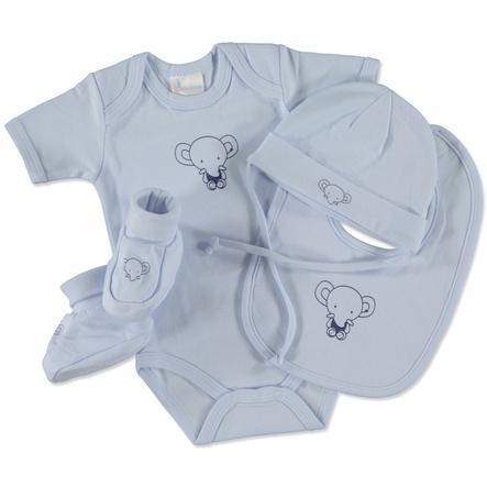 pink or blue Boys Geschenkset Little Friends 4-teilig hellblau