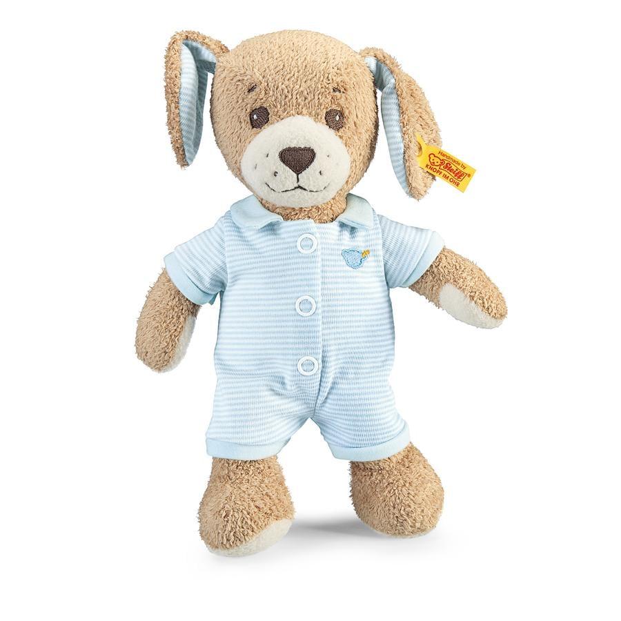 STEIFF Hyvää-yötä-koira sininen, 28 cm