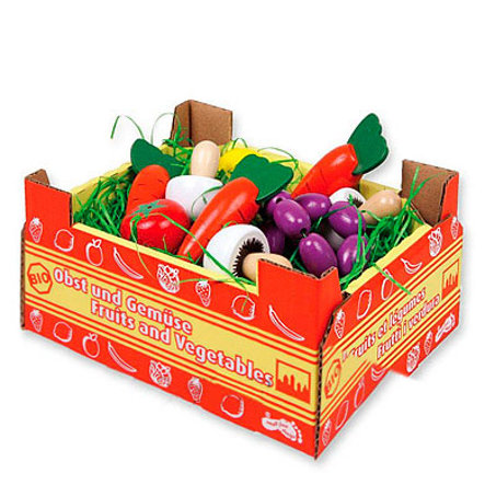 small foot® Cageot avec légumes enfant bois 1756