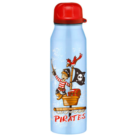 ALFI Trinkflasche ISO Bottle aus Edelstahl 0,5l Design Pirates, blau
