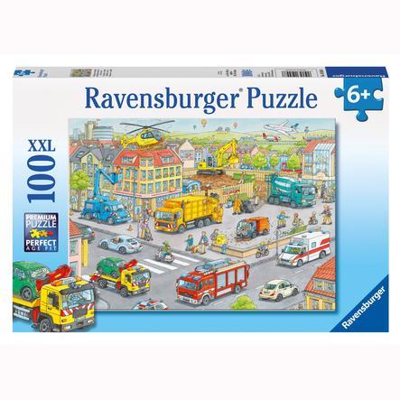 RAVENSBURGER Puzzle XXL 100 elementów - Pojazdy w mieście