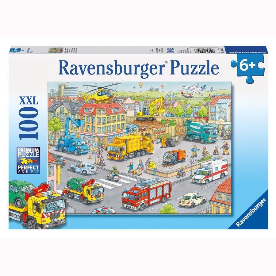 RAVENSBURGER Puzzle XXL 100 Teile - Fahrzeuge in der Stadt