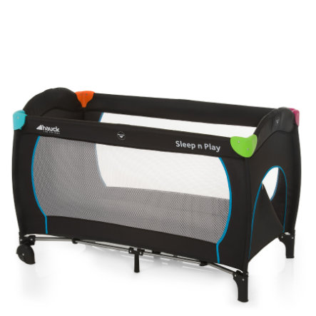 HAUCK Travel Cot Sleep'n Play Go Plus Multicolor Black Collection 2015