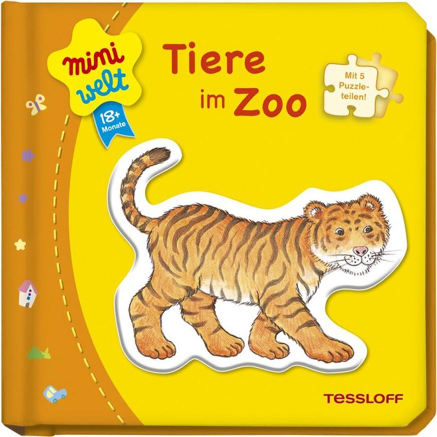 TESSLOFF miniwelt Kleines Puzzlebuch: Tiere im Zoo