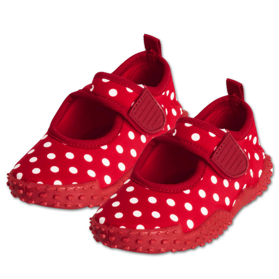 PLAYSHOES Chaussures de bain protection UV 50+ rouge à pois