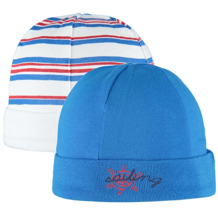 pink or blue Lot de 2 bonnets maritimes bébé, rayures, bleu